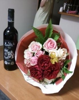 花とワイン